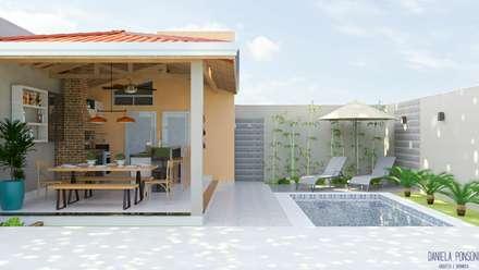 Piscinas de jardín de estilo  de Daniela Ponsoni Arquitetura
