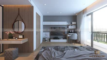 moderne Schlafzimmer von Công Ty TNHH Xây Dựng & Nội Thất ECO Việt Nam
