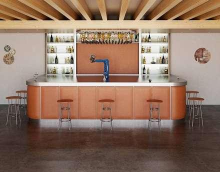 Renders de Interiores: Comedores de estilo moderno por Valantia Studio