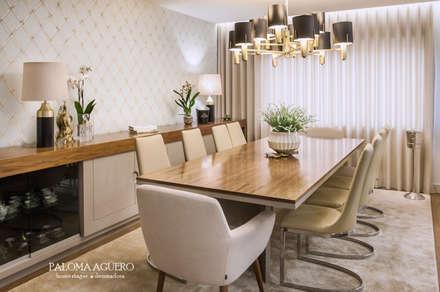 Apartamento na Foz do Douro: Salas de jantar clássicas por Paloma Agüero Design