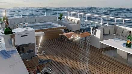 Allestimento ponte yacht: Yacht & Jet in stile in stile Moderno di Modellazione-3d.it
