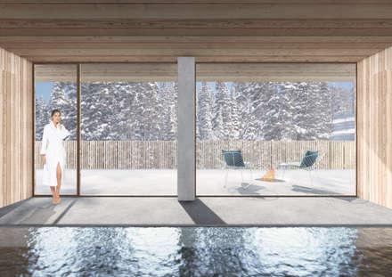 Spa de estilo minimalista por studio conte architetti