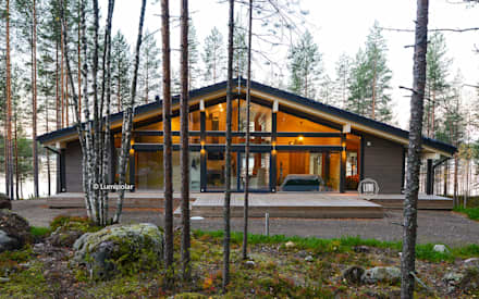 Wooden houses by LUMI POLAR
