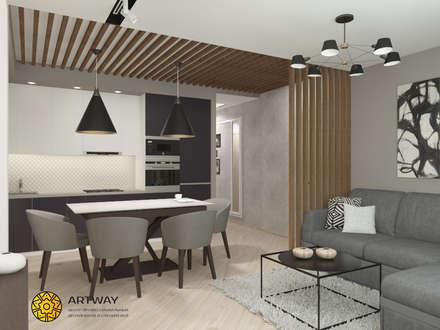 Городские джунгли: Встроенные кухни в . Автор – ARTWAY центр профессиональных дизайнеров и строителей