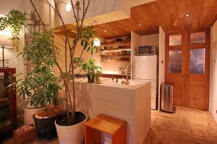 Apartment in tamagawa: MimasisDesign [ミメイシスデザイン]が手掛けたキッチンです。
