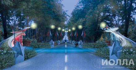 Jardines delanteros de estilo  de Архитектурно-производственная группа ИОЛЛА