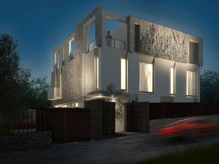 Casas campestres de estilo  por Архитектурно-производственная группа ИОЛЛА