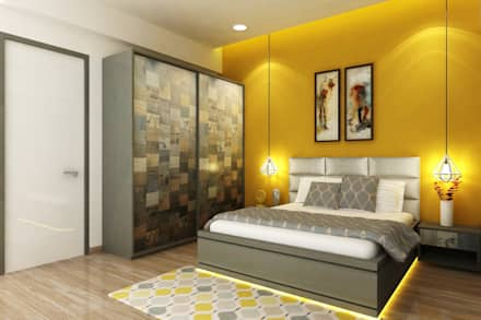 GUEST BEDROOM: modern Bedroom by A Design Studio