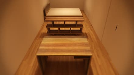 minimalistic Media room by ARA