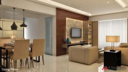 LIVING ROOM Minimalistic Living Room By A Design Studio