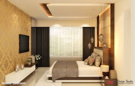 MASTER BEDROOM: minimalistic Bedroom by A Design Studio