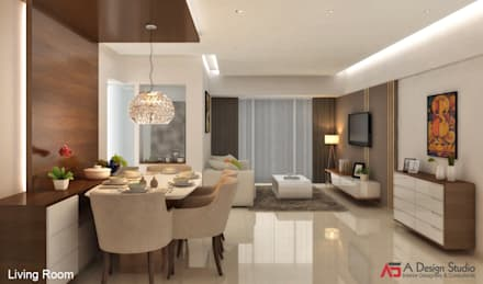 LIVING U0026 DINING ROOM: Modern Living Room By A Design Studio