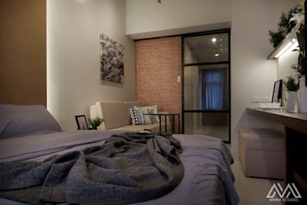 Brooklyn Vibe - The Currency: industrial Bedroom by MVRX Designs