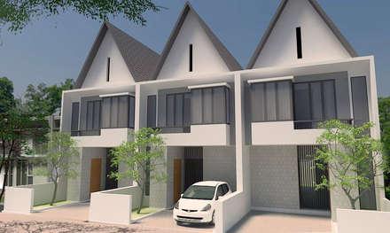 Sukarajin Townhouse:  Rumah tinggal  by Urbanismo Indonesia