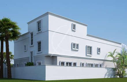 Back View:  Villas by Comelite Architecture, Structure and Interior Design