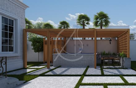 Casetta da giardino in stile  di Comelite Architecture, Structure and Interior Design