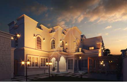 Backyard:  Villas by Comelite Architecture, Structure and Interior Design