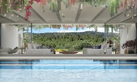 Piscinas de jardín de estilo  por architetto stefano ghiretti