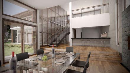Casa ''La Pendiente'': Comedores de estilo moderno por Artem arquitectura