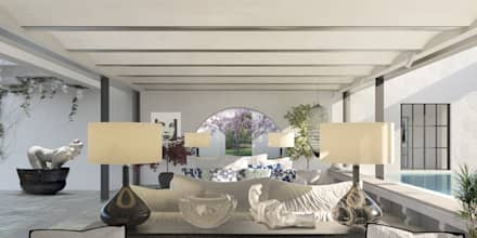 mediterranean Living room by architetto stefano ghiretti