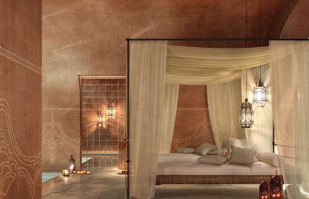 Can Abi: Spa in stile in stile Mediterraneo di architetto stefano ghiretti