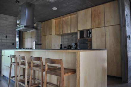 Casa zona sur: Cocinas de estilo industrial por En bruto