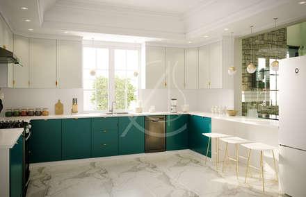 Kitchen:  Kitchen units by Comelite Architecture, Structure and Interior Design