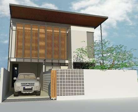 Sarimanah House:  Rumah tinggal  by Urbanismo Indonesia