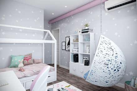 غرفة الاطفال تنفيذ Студия архитектуры и дизайна Дарьи Ельниковой