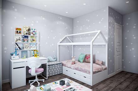 Dormitorios infantiles de estilo  por Студия архитектуры и дизайна Дарьи Ельниковой