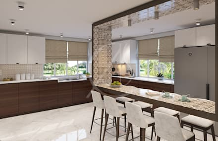 Kitchen:  Kitchen units by Comelite Architecture, Structure and Interior Design