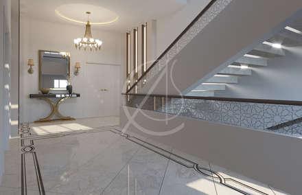 Entrance Hall:  Corridor & hallway by Comelite Architecture, Structure and Interior Design