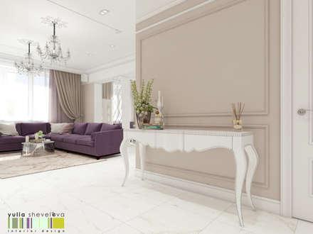 Изысканный салон: Гостиная в . Автор – Мастерская интерьера Юлии Шевелевой