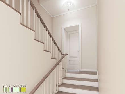 Изысканный салон: Лестницы в . Автор – Мастерская интерьера Юлии Шевелевой