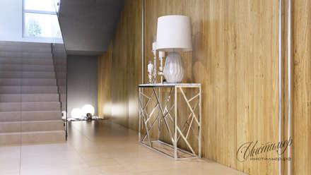 Дизайн-проект интерьера загородного дома: лестница: Лестницы в . Автор – Студия Инстильер | Studio Instilier