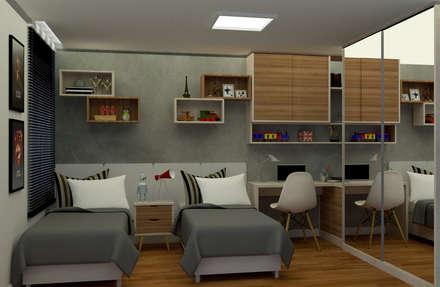 غرفة نوم مراهقين  تنفيذ MN Arquitetura e Urbanismo