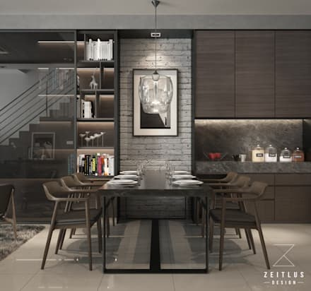 DINING AREA: modern Dining room by Zeitlus Design