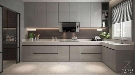 KITCHEN AREA:  Built-in kitchens by Zeitlus Design