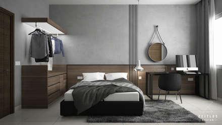 BEDROOM 1: modern Bedroom by Zeitlus Design