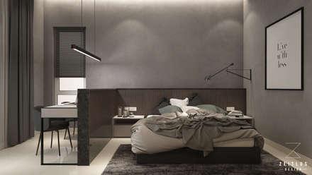 MASTER BEDROOM: modern Bedroom by Zeitlus Design