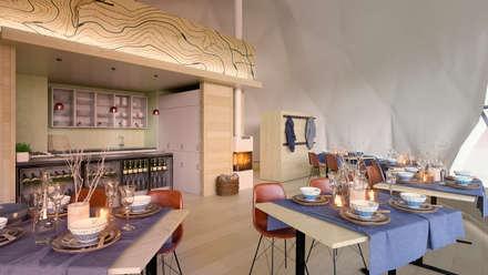 HOTEL BOUTIQUE EXPERIENCIA LAS MUGAS: Hoteles de estilo  de La Pecera Estudio Creativo