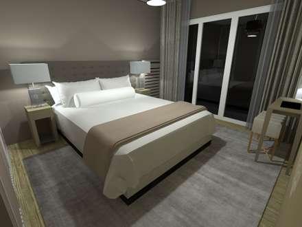 Appartement en Région parisienne: Chambre de style de style Moderne par Anne Lapointe Chila