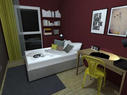 Appartement en Région parisienne: Chambre fille de style  par Anne Lapointe Chila