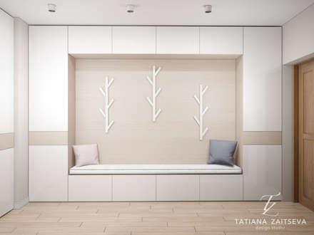 Pasillos y vestíbulos de estilo  por Design studio TZinterior group