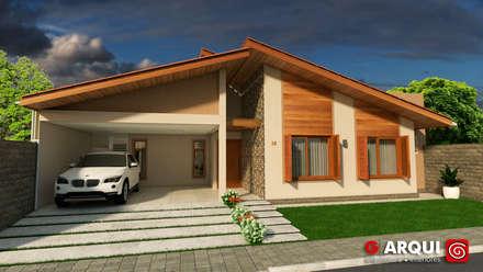 Nhà có sân thượng by G . Arqui - Arquitetura e Interiores