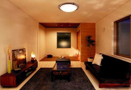レアージュRハウス新百合ヶ丘 王禅寺邸: PROSPERDESIGN ARCHITECT OFFICE/プロスパーデザインが手掛けたリビングです。
