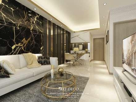 One Homantin : modern Living room by Art Deco Design Ltd.