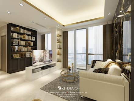 One Homantin : modern Living room by Art Deco Design Ltd.