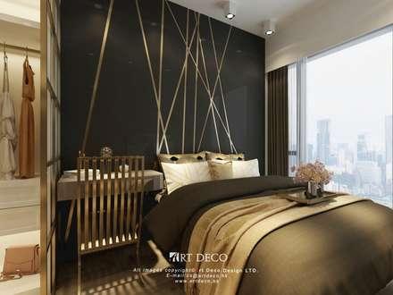 One Homantin : modern Bedroom by Art Deco Design Ltd.