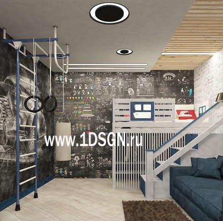غرفة نوم أولاد تنفيذ Дизайн студия 'Дизайнер интерьера № 1'